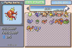 Pokemon Ash Gray (beta 3.61) - Level Select  -  - User Screenshot
